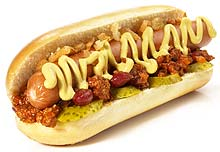 Hot Dog mit Chili