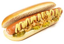 Hot Dog mit Senfmayonnaise